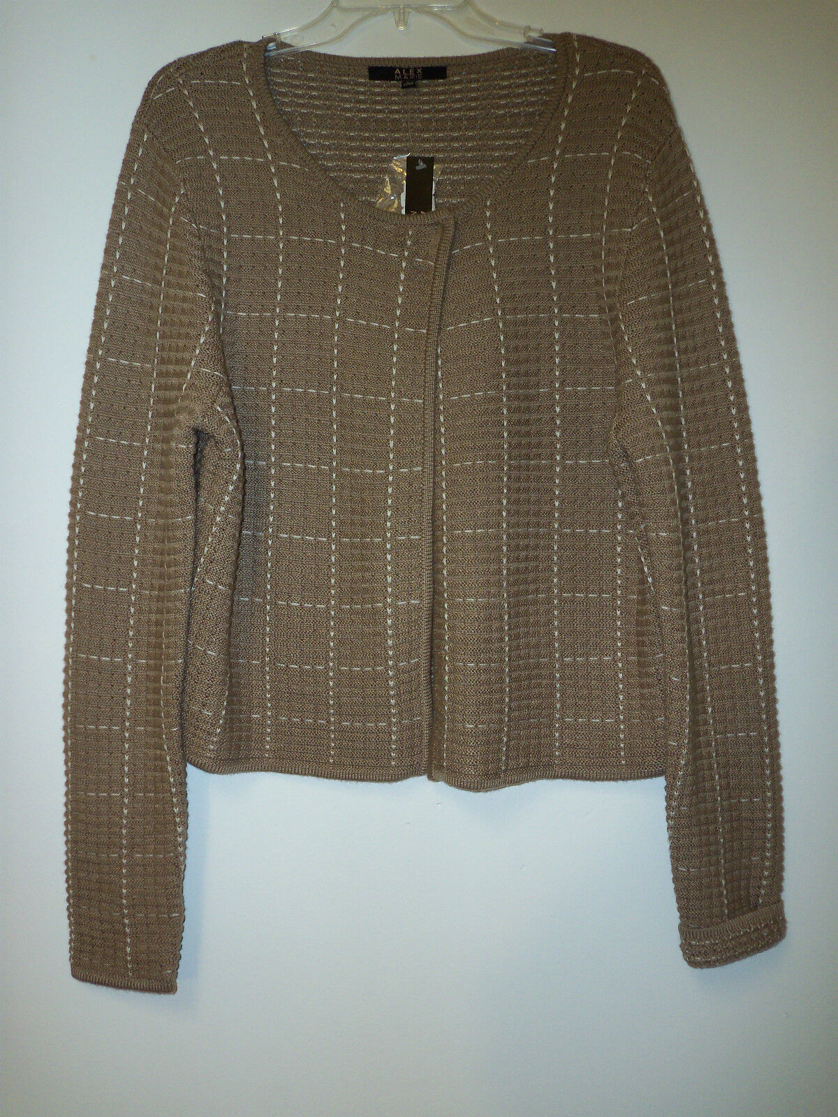 Alex Marie New Womens Shirley Wheat Large Cardigan Sweater