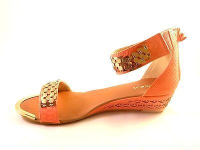 Nuevo Para Mujer Zapatos Con Taco Bajo Tobillo Sandalias Gladiadores Zip