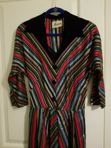 Maxan Rare Vintage Circa 1940s Hollywood Gown Rain