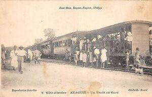 B86469 ivory coast azaguie un train en gare  railway train station gare africa