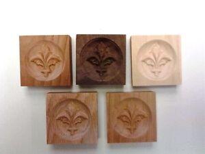 "2.5/"" x 2.5/"" x 3//4/"" Engraved Walley Rosette Corner Moulding Block"