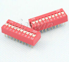 20PCS Red 2.54mm Pitch 5-Bit 5 Positions Ways Slide Type DIP Switch J11