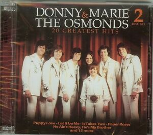 DONNY & MARIE / THE OSMONDS - 20 GREATEST HITS - 2 CD SET - NEW