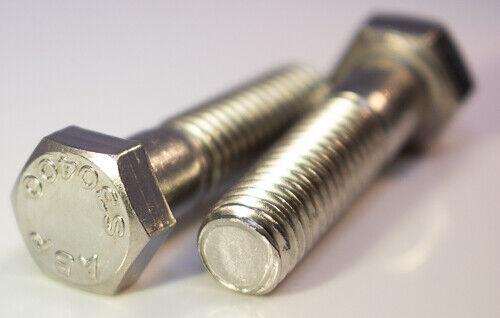 """3//8-24 X 2-1//4/"""" Stainless steel hex head grade 5 standard bolts 10pcs"""