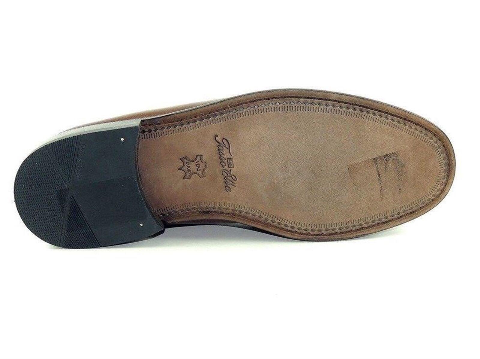 Tasso Elba Para Para Para hombres Zapatos Carter Slip-on Marrón Todo Cuero M 7e7f15