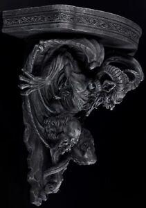 Teufel-Wandkonsole-Gothic-Daemon-Wanddeko-Wandregal-schwarz