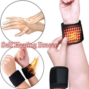 EB-1-Pair-Self-Heating-Magnetic-Therapy-Tourmaline-Wrist-Belt-Brace-Support-Gra