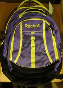 Reebok - Chief Thunder Backpack Purple and Yellow 15.6 Laptop Bag ...