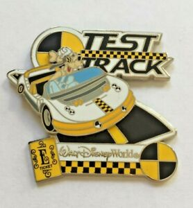 Disney-Pin-Badge-WDW-E-Ticket-Attractions-Test-Track-Goofy