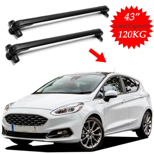 Car Top Luggage Roof Racks Cross Bar Carrier Aluminum Adjustable for Ford Fiesta