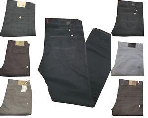 rivenditore di vendita 7b59b 24411 Dettagli su Pantaloni Uomo 5 Tasche Jeans Invernali Regular Fit Fustagno  Gamba Dritta Casual