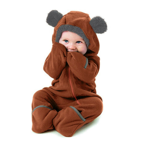 Infant Toddler Baby Kid Girl Boy Cartoon Ears Hoodie Romper Clothes Jumpsuit CH
