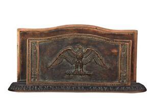 Set-de-bureau-bronze-de-Leverrier-style-Empire-a-decor-de-palmettes