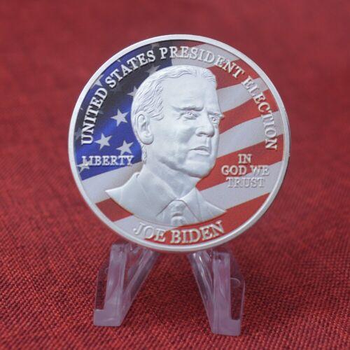 Joe Biden President Commemorative Souvenir Coin Challenge Silver Plate