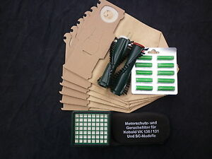 6 Staubsaugerbeutel Vlies geeignet Vorwerk Kobold 130 131 Filter 6 Dufti