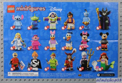 Disney Minifigures Series Poster LEGO Collectible Leaflet Pamphlet Flyer