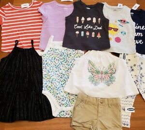 87c6862f321 NEW Old Navy Girls 12-18 MONTHS Summer Clothes Lot of 10 PIECES Tops ...