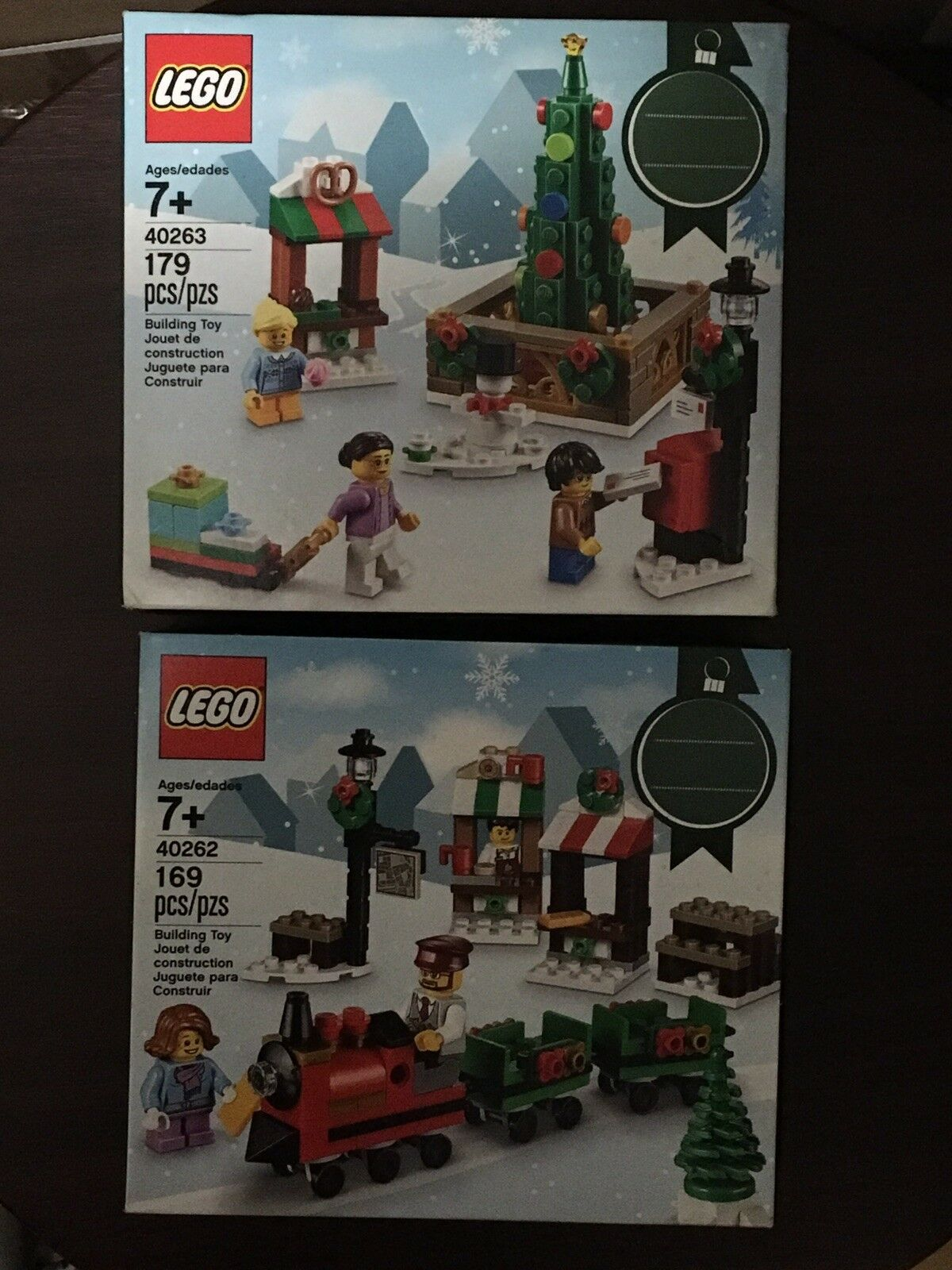 LEGO 40262 40263 Christmas Town Square Set Of 2 Retired