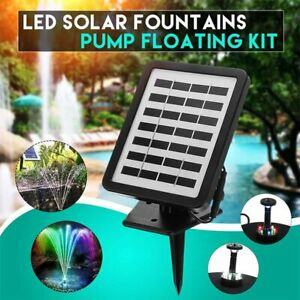 Water fountain solar panel pump floating wireless outdoor garden ponds