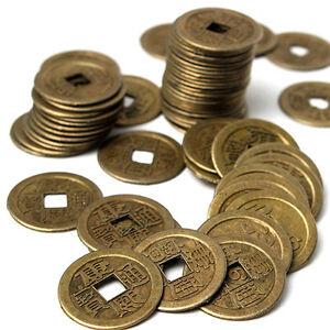 Eg 10 Glück Chinesisch Münze Orientalisch Kaiser Geld Loch