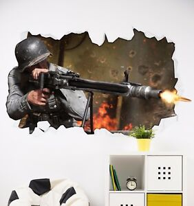 Image Is Loading Call Of Duty WW2 Theme Sticker Wall Art