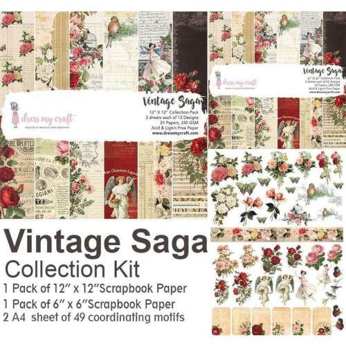 Dress My Crafts Collection Kit  Vintage Saga 818911027845
