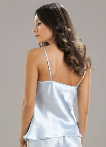 Sulis Silk Delia pure silk lace bridal camisole cami top made in Britain