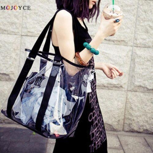 summer waterproof transparent jelly crystal women shoulder Hand bag  PVC Luxury
