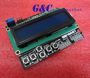 New-1602-LCD-Board-Keypad-Shield-Blue-Backlight-For-Arduino-Duemilanove-Robot-M1