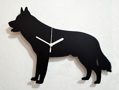 Siberian Husky Dog Silhouette Wall Clock
