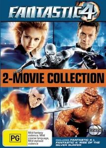 Fantastic-4-2-Movie-Collection-1-amp-2-Fantastic-Four-DVD-2007-2-Disc-Set-vgc-c5