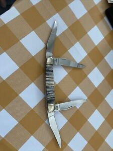Case 4 Blade Muskrat Mammoth Tooth NEW