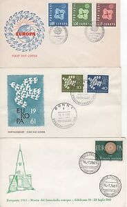 SET-OF-THREE-1961-EUROPA-FIRST-DAY-COVERS-FROM-GERMANY-ITALY-amp-PORTUGAL