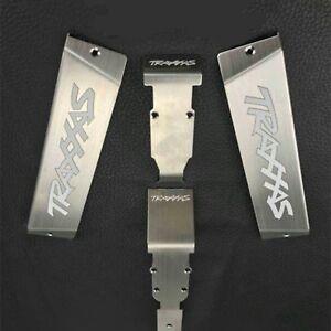 Para-1-10-Traxxas-E-Revo-Summit-Bateria-armadura-Skid-Placa-De-Acero-Inoxidable-reemplazar