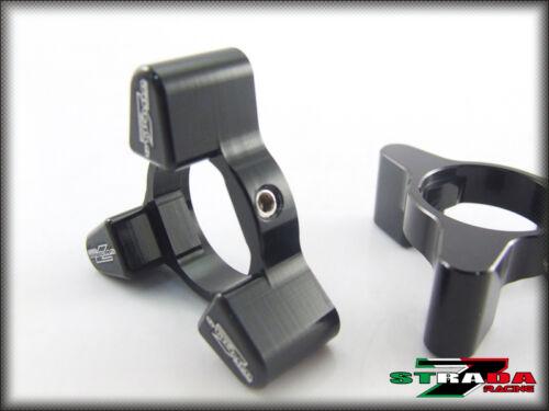 Strada 7 CNC 17x20mm Fork Preload Adjusters Kawasaki ZX9R C1 C2 1998-1999 Black