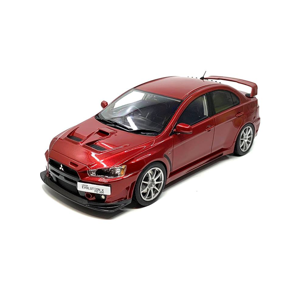 BM Creations Volcanic Series 1 18 Scale Mitsubishi Lancer Evolution X in rosso
