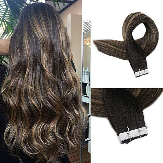 Full Shine Seamless Tape in Hair Extension 20Pcs 50G Balayage Hair  Extensions