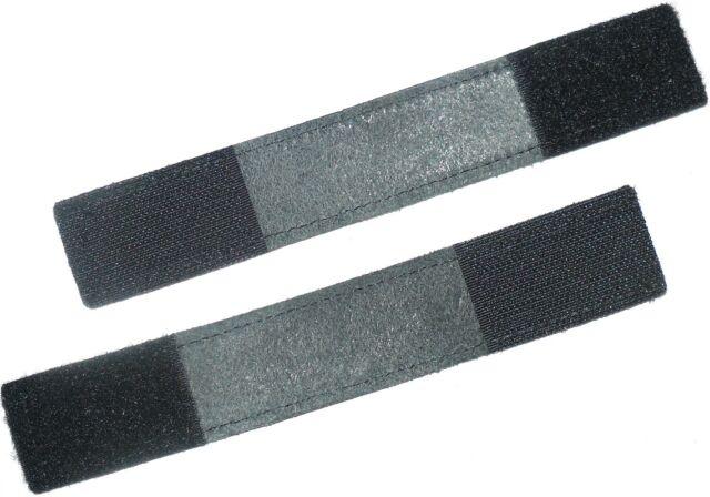 BLACK LEATHER STRAP WITH HOOK & LOOP X4, L-172MM, W-30MM, ART VB-90, FREE  P&P