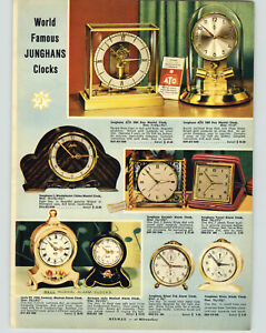 Details about 1954 PAPER AD Junghans 1000 Day Mantel Clock aTo Heco Black  Forest Cuckoo Clock