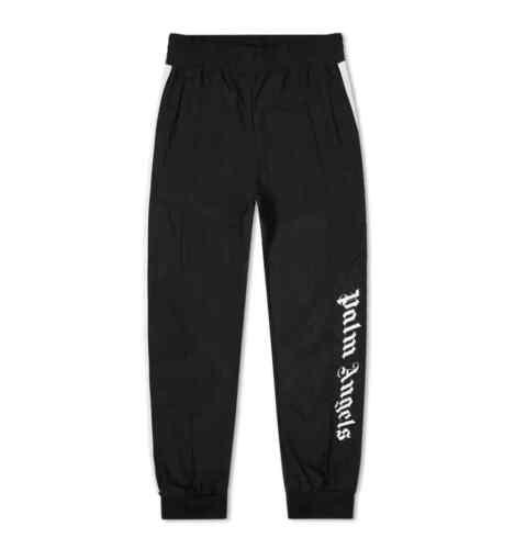 Palm Angels Men/'s Oversize Logo Track Pants In Black