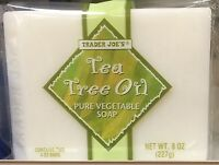 Trader Joe's Tea Tree Oil Pure Vegetable Soap 2 Bars , Net 8 Oz