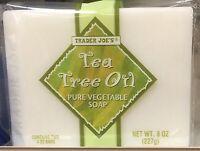 Trader Joe's Tea Tree Oil Pure Vegetable Soap 2 Bars , Net 8 Oz