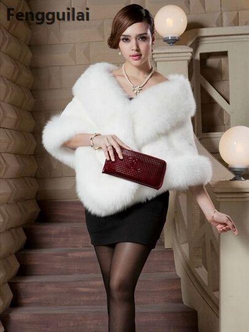 Winter Leather Grass Grass Grass Faux Fur Mink Rabbit Ladies Coat Shawl Cape Vest For Women 57ce31