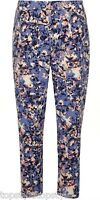 DOROTHY PERKINS METEOR PRINT  BLUE&PINK TROUSERS ELASTICATED WAIST SIZES 10-20