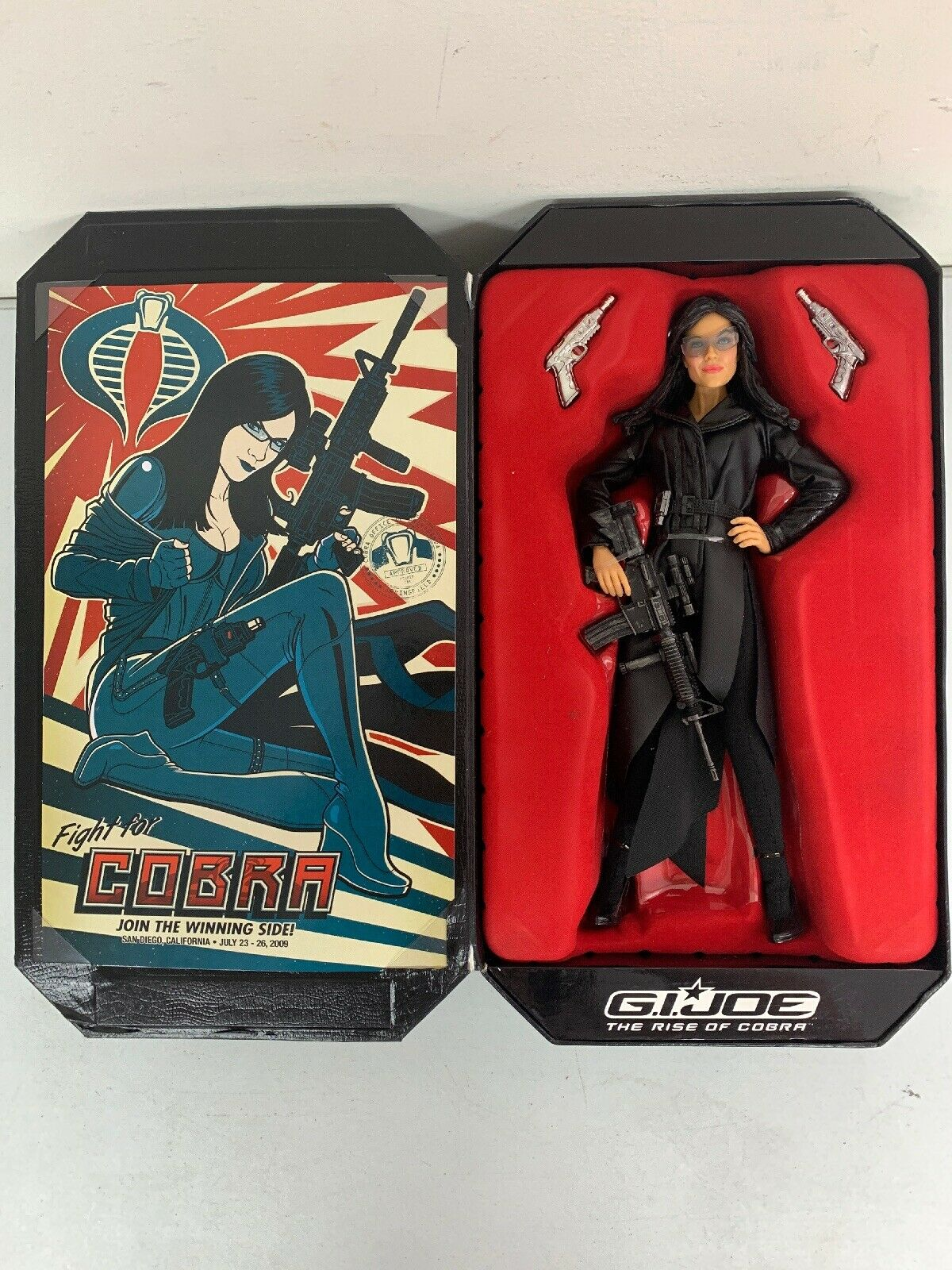 Hasbro GI Joe The Rise Of The Cobra Baroness Vintage bambola completare In scatola