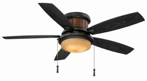 Flush Mount Ceiling Fan Hugger Low Profile Stylish Led