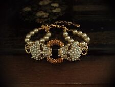 Butler & Wilson B&W Vintage Leopard Bracelet with Seed Pearls & Topaz Crystals
