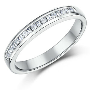 18ct-White-Gold-3mm-Princess-Cut-0-25-Carat-Eternity-Diamond-Ring