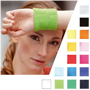 Wristbands !mb Sports Schweißband Schweissband Jogging Wristband Armband 043-15 Farben Rapid Heat Dissipation Clothing, Shoes & Accessories