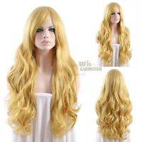 Long Curly 75cm Mixed golden Blonde Fashion Wig Heat Resistant